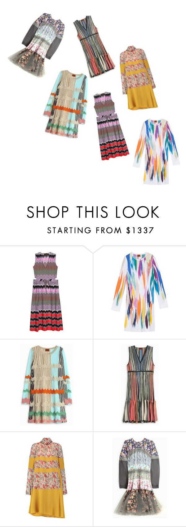 """Multi Colour Dress..**"" by yagna ❤ liked on Polyvore featuring Missoni, Sonia Rykiel and Natasha Zinko"