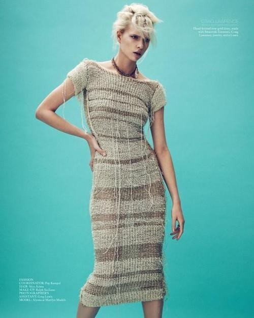 Salt, Spring/Summer 2012  ph. Beau Grealy  model: Alyona Subbotina  stylist: Kate Sebbah