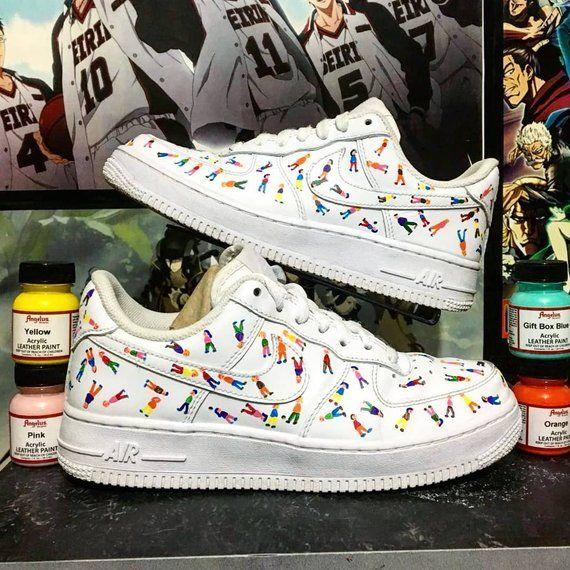 Peregrinación chatarra línea  Little People Custom Nike Air Force one,custom sneakers , custom shoes ,  custom nike ,custom kicks ,hand painted - Social Media Collections