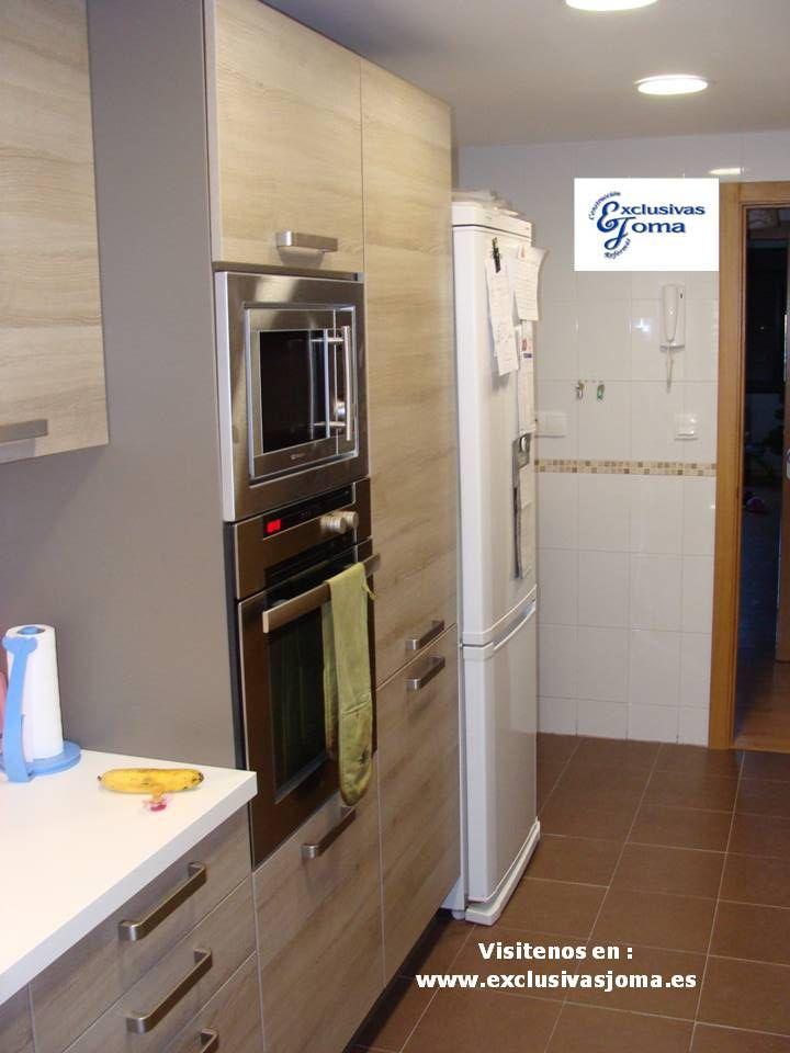 Muebles de cocina en color madera roble imperial y - Encimera cuarzo ikea ...