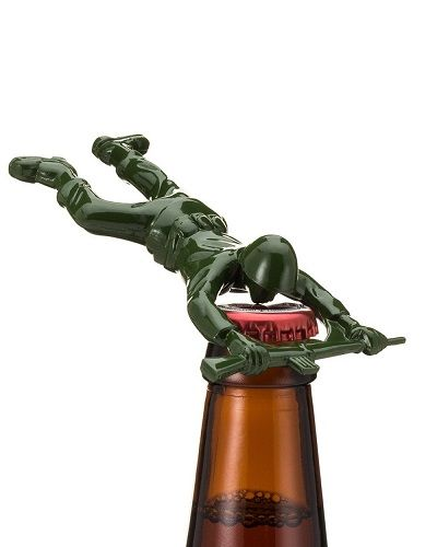 Cute Army Man Bottle Opener makes a good gift for dad who has everything. (Fathers Day gifts)