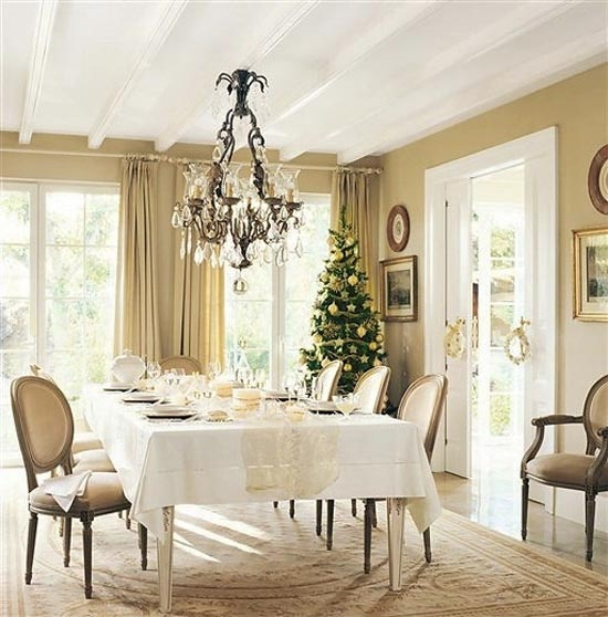 Christmas House Decor Ideas with Silver and Gold