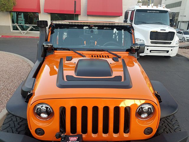 """ORF Front and Rear Bumpers 18"""" Helo Wheels 35X12.50R18 Toyo Open Country M/T AEV JK Hood and Snorkel Rigid Industries Lighting JW Speaker Headlights, Fog Light"""