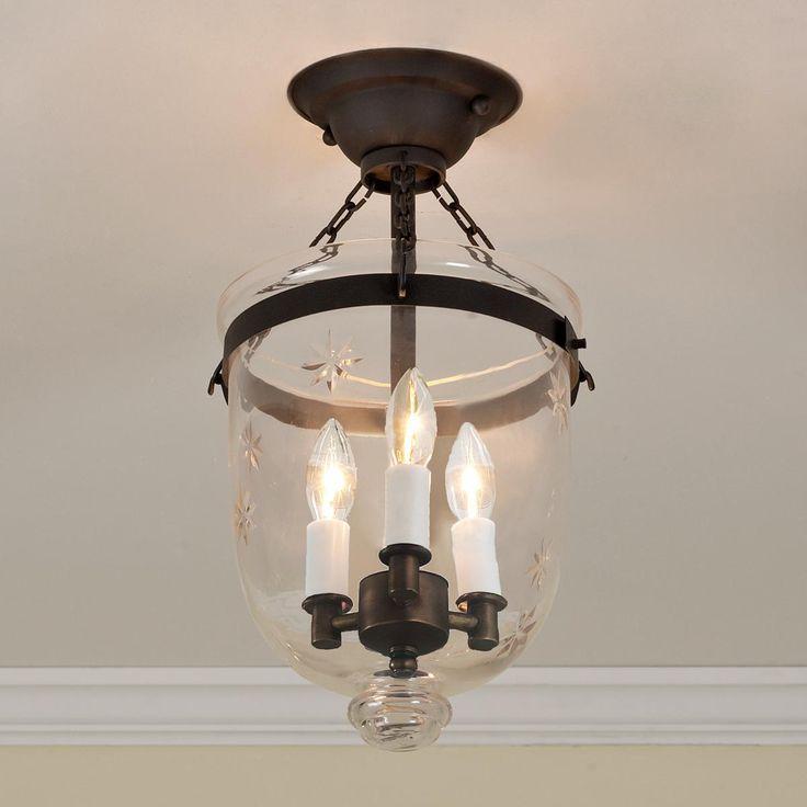 Get The Look Overscale Lighting: Mini Smokebell Semi-Flush Ceiling Lantern