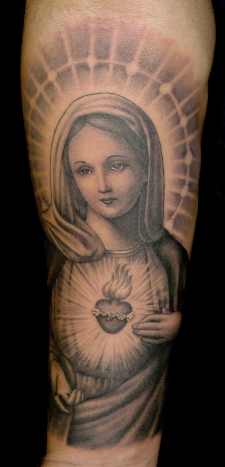I'm not Catholic, but I do love all you can do Tattoo wise with the religion.