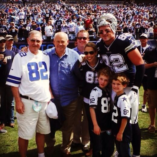 Jason Witten with his wife and Kids. Plus his grandpa Coach Ryder...Loved this man :)