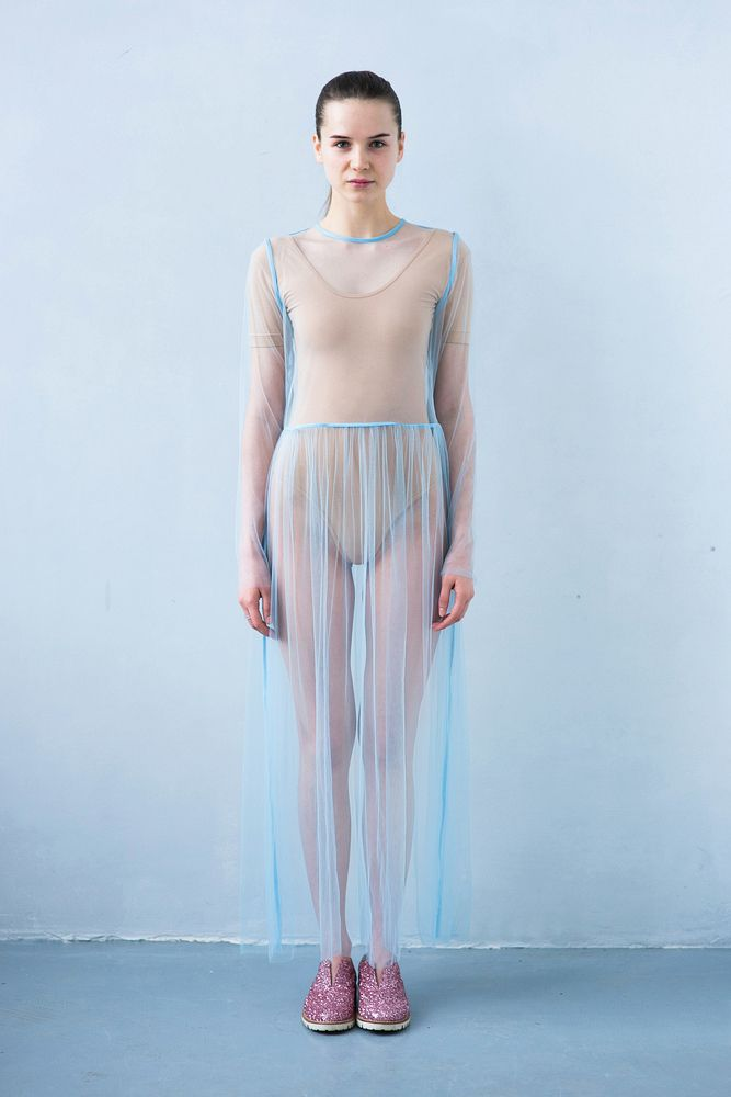 Платье прозрачное голубое / Transparent dress blue