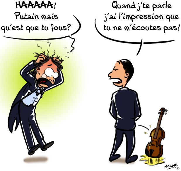 Faire pipi dans l'instrument d'un violoniste n'est pas la meilleure façon de se faire entendre...