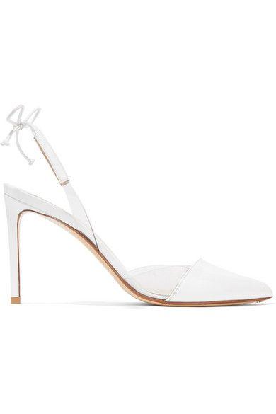 FRANCESCO RUSSO | PVC-trimmed patent-leather pumps #Shoes #Pumps #High_Heel #FRANCESCO RUSSO