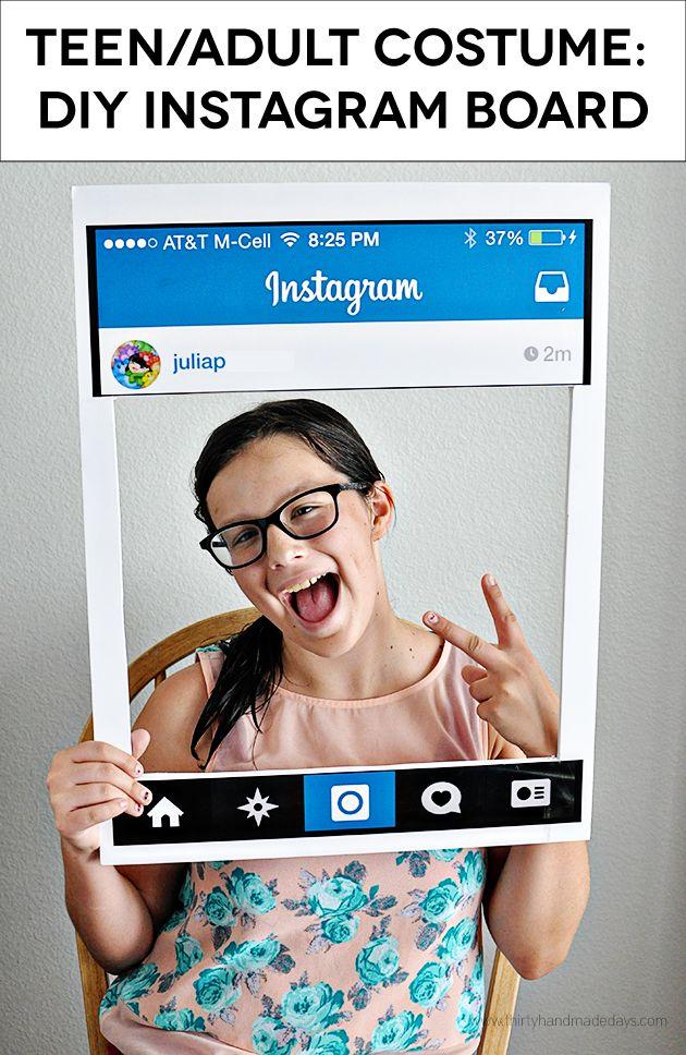 Fun Teen/Adult Costume: DIY Instagram Board