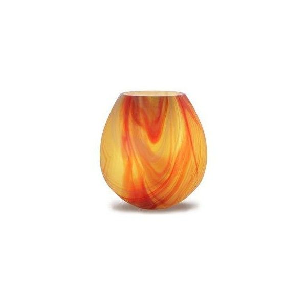 Bella Luce 20405 Vesuvian Orange Table Lamp ($156) ❤ liked on Polyvore featuring home, lighting, table lamps, orange lamp, orange glass lamp, glass table lamps, glass lamps and orange table lamp