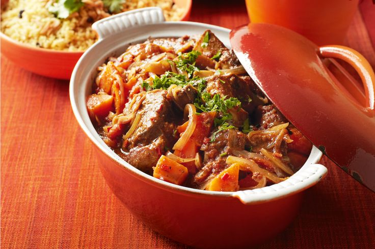 Honey, spices, tomatoes and sweet onions give this slow-cooked beef depth of flavour.