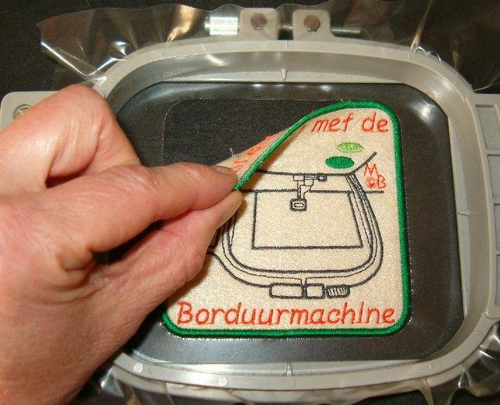 Badge maken op de borduurmachine - en freebies