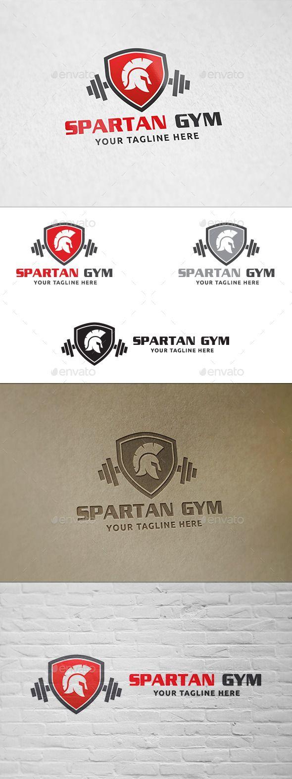 Spartanische Gym - Logo-Vorlage - Humans Logo Vorlagen