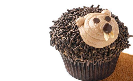 groundhog day cupcakes: Chocolates Cupcakes Recipes, Cakes Mixed, Holidays Cupcakes, Groundhog Day Cupcakes, Chocolates Cakes, Cupcakes Frostings, Groundhog Cupcakes, Cupcakes Rosa-Choqu, Cupcakes Cakes
