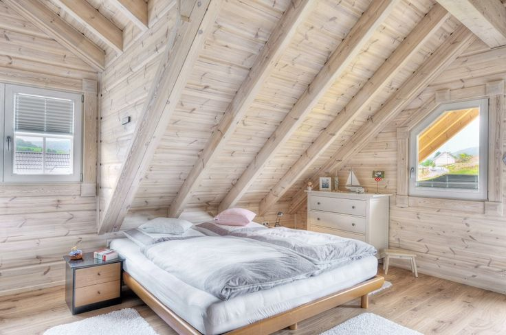 Honka Einfamilienhaus Modell Peak Schlafzimmer