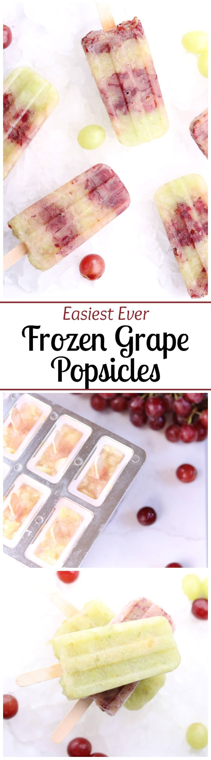 Frozen grapes are deliciously transformed into perfectly simple, amazingly…
