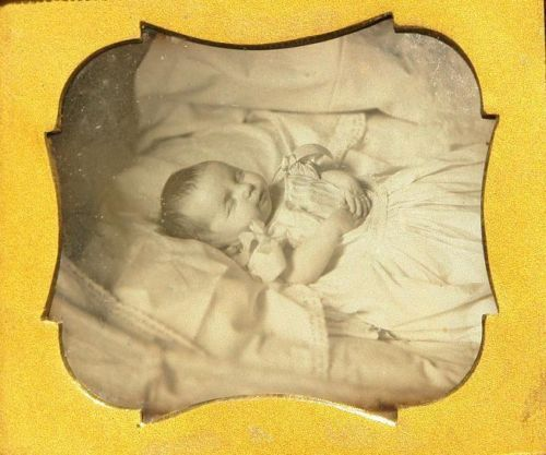 Daguerreotype Infant Post Mortem 1840'S | eBay