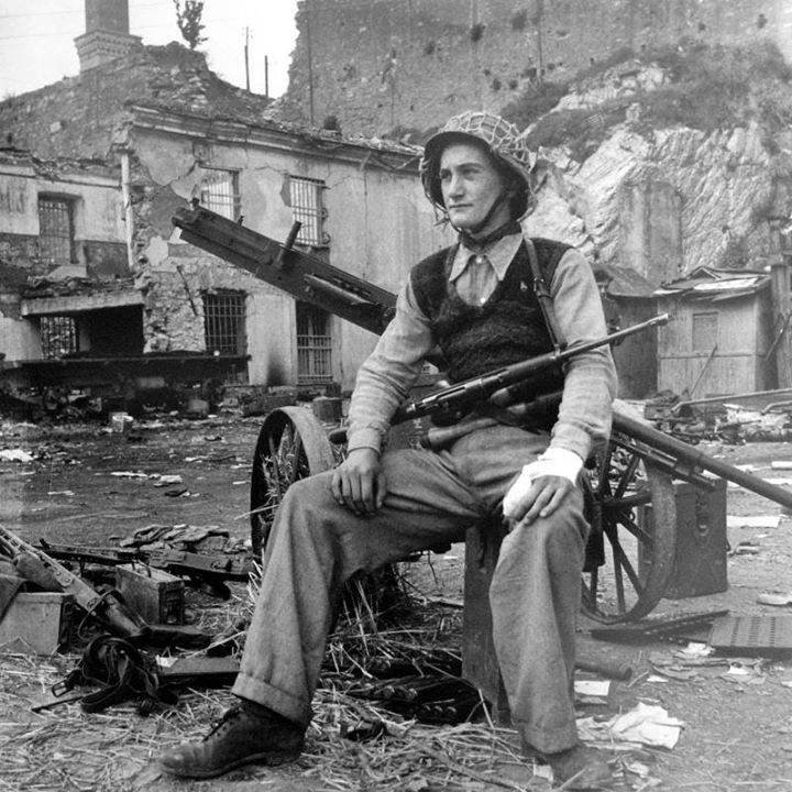 Werner Wolff - a member of the Italian partisan detachment shot Mussolini