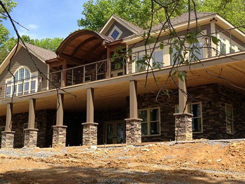 Nashville tn insulated concrete form house fox blocks for Concrete form homes
