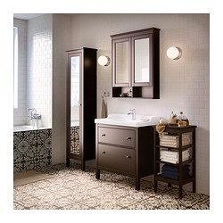 """HEMNES Sink cabinet with 2 drawers, black-brown stain - black-brown stain - 31 1/2x18 1/2x32 5/8 """" - IKEA"""
