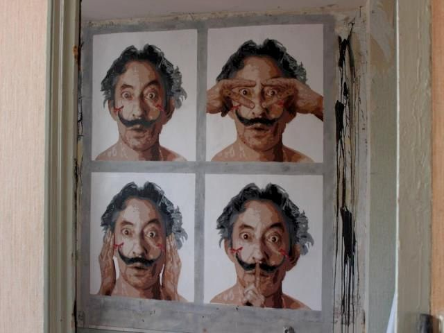 big ben street art - photomaton serge G - expo de ouf Nimes