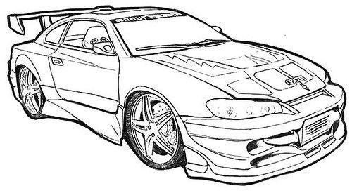 Imágenes de Carros de Carrera para Colorear: Dibujos de