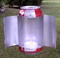 DIY Gear - Survival Lamp   Place a small candle or tea light in the can and you have a home-made lantern #camping #scouts