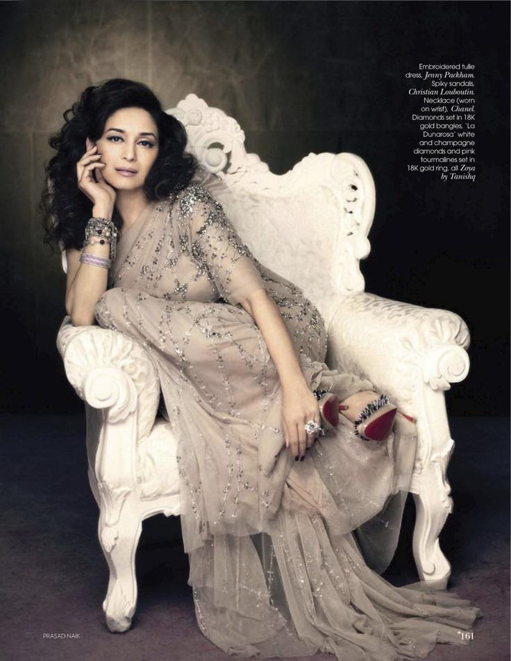 Madhuri in Vogue India August 2011 by Prasad Naik