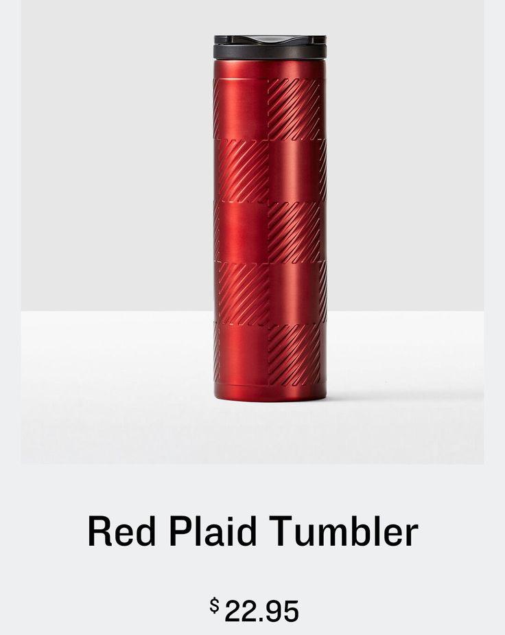 starbucks red plaid tumbler