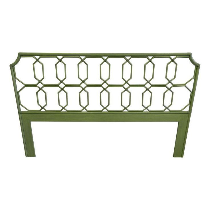 King Rattan Lime green Headboard - $1,200 Est. Retail - $650 on Chairish.com from the #Cococozy collection!