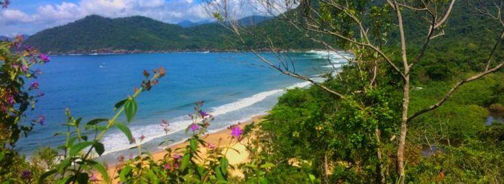 Brasil - Praia do Sono - Trilha para Ponta Negra - Primeira subida difícil, conseguimos ver o Sono