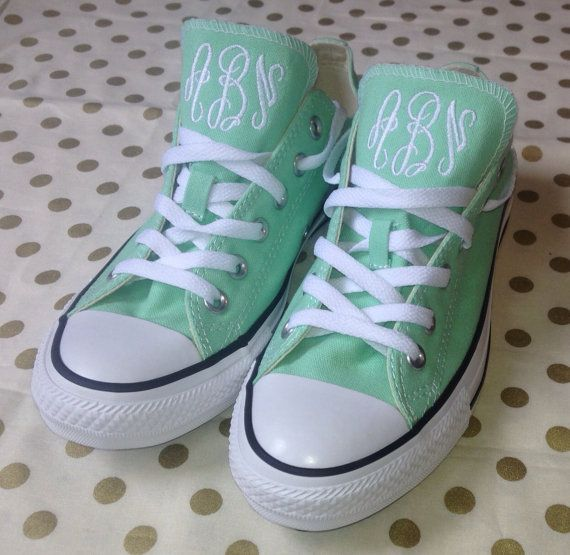 Adult Monogram Converse on Etsy, $65.00, omg those are my initials