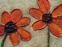 Diy Caulk and Paint flower art Tutorial