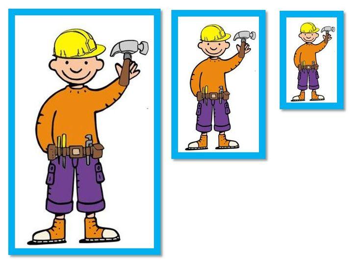 van groot naar klein, uitknippen en kleuters zelf laten plakken. Original by Juf Wendy