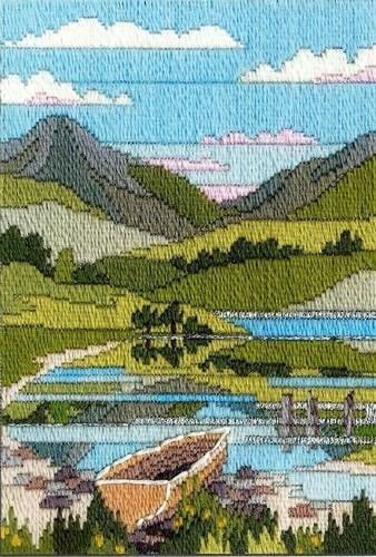 Mountain Spring, longstitch embroidery kit, by Derwentwater, UK