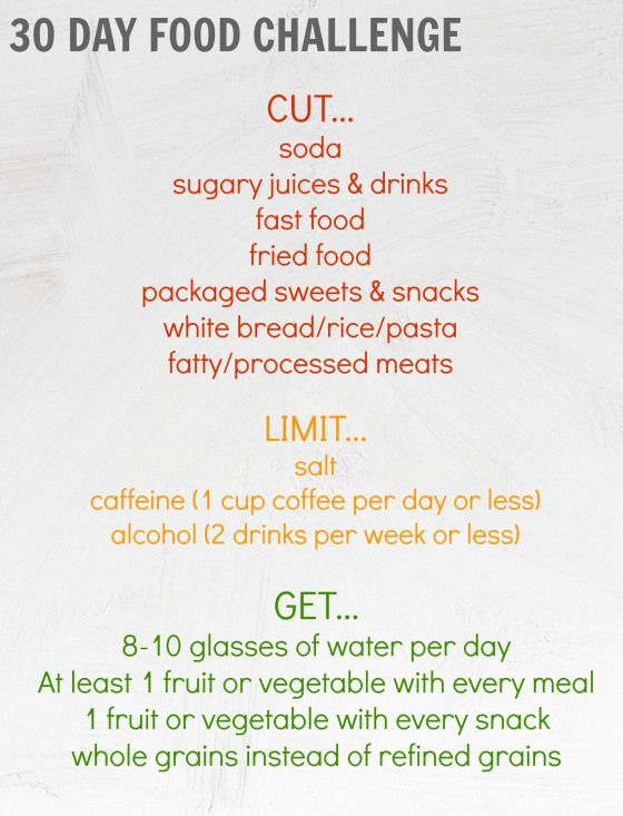 30 Day Food Challenge - great to kickstart any weight loss plan. Feel great, boost your energy, and detox.