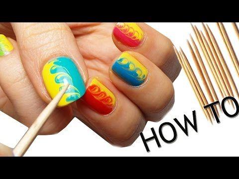 nail art - facile e colorata con stuzzicadenti!   #nailartfacileecolorataconstuzzicadenti