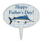 Cake Topper - Blue Marlin on Plaid http://ift.tt/2CfJasM