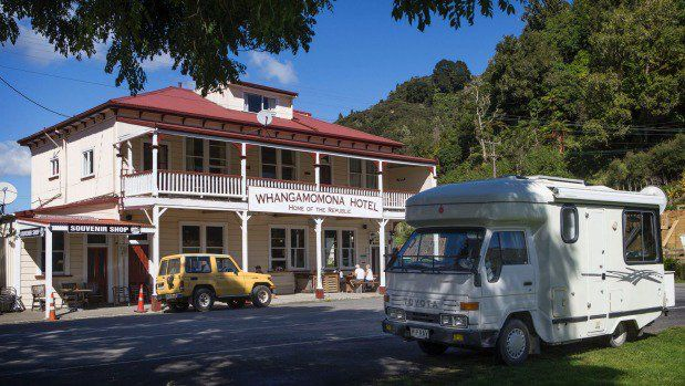 Whangamomona Hotel in New Zealand, on the Forgotten Highway. #whangamomonaNZ