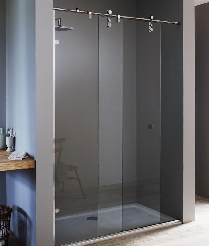 Image result for sliding shower screen