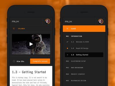 AIUX - Mobile View & Syllabus Expanded