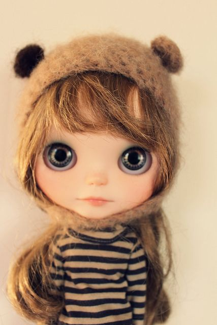 blythe, sweetness: Art Dolls Blythe, Sweet, Blythe Dolls, Teddy Bears, Cute Dolls, The Faces, Big Eye, Brown Hair, Beautiful Eye