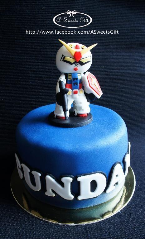 Cute Gundam Cake - via @Craftsy