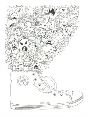 fantasy coloring pages for teens - photo#15