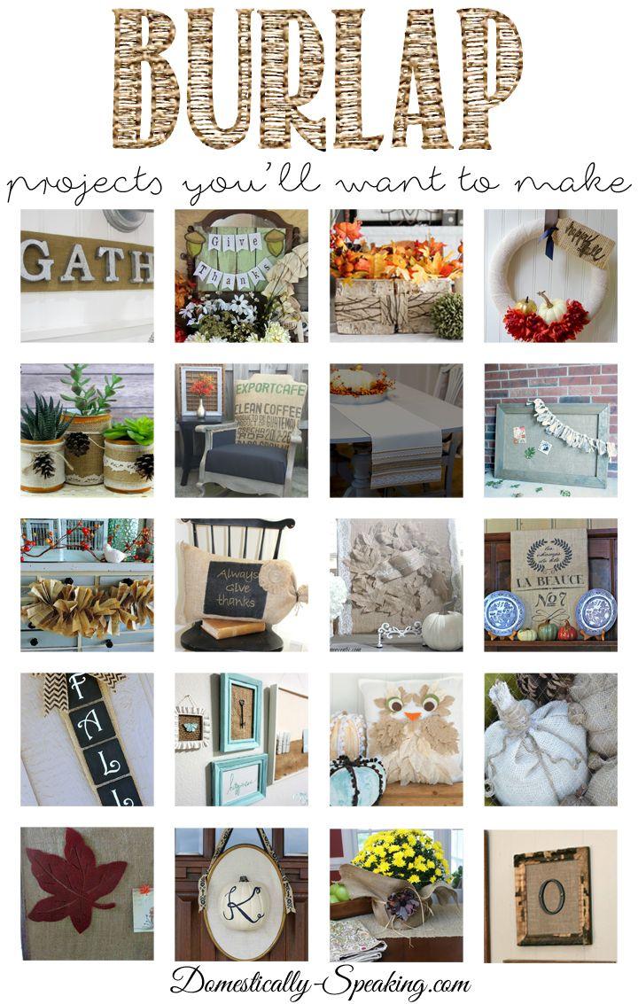 211 best diy burlap projects images on pinterest burlap projects