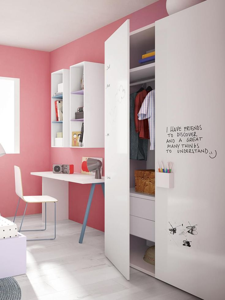 Battistella NIDI Children's Graphic Wardrobe whiteboard