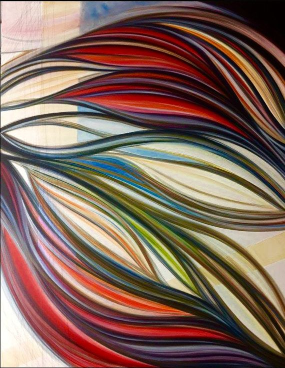Pittura Astratta Acrilico su Tela Alta  Legàmi  di di AriArtStudio