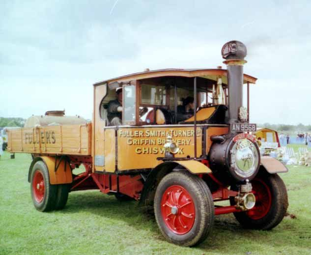 Foden Steam Lorry | This lorry was supplied new to to brewers Fuller, Smith and Turner of ...