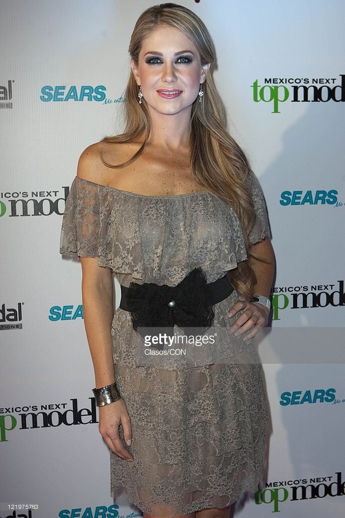 Ingrid Martz during the red carpet for the second season Mexico\'s Next Top Model at Bar Ragga Mexico City.